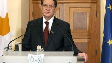 Le président chypriote Nicos Anastasiades , le 17 mars 2013 à Nicosie
