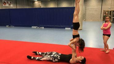 Aurore Mestdag à l'entraînement