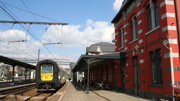 La gare ferroviaire de Tamines