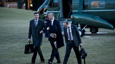 L'ancien conseiller économique du président américain Gary Cohn et Rob Porter, un ex-conseiller.