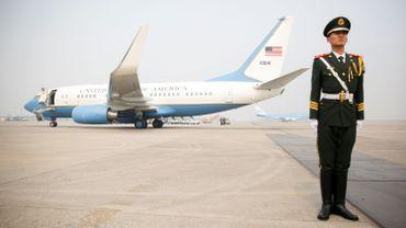 L'avion de Rex Tillerson lors de son déplacement récent en Chine.