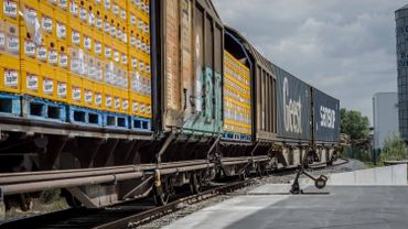 Jusqu'à 5000 camions en moins grâce à un train entre la brasserie de Jupille et Ninove