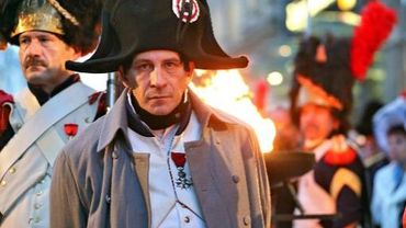 """Frank Samson, en costume, le 16 octobre 2013, pour rejouer la """"la bataille des Nations"""" à Leipzig"""