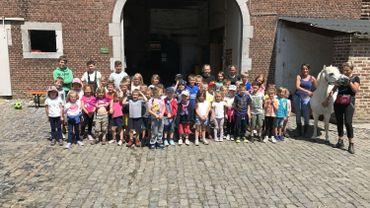 Quarante-six enfants participent à un stage à la ferme pédagogique de le Croix de Mer à Borlez.