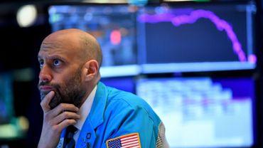 Un trader à la Bourse de New York le 19 mars 2020
