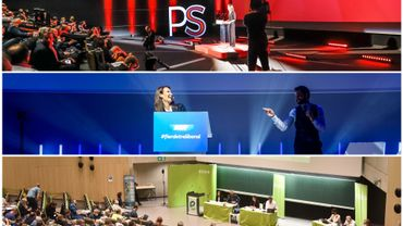 Nouveau gouvernement belge: les militants des sept partis (PS, sp.a, MR, Open VLD, CD&V, Ecolo et Groen) ont dit oui