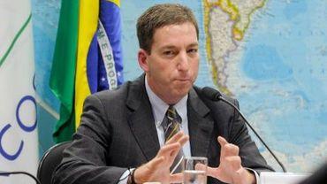 Le journaliste du Guardian, Glenn Greenwald, devant le sénat brésilien à Brasilia, le 6 août 2013