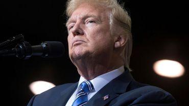 Le président américain Donald Trump à Huntington en Virginie, le 3 août 2017
