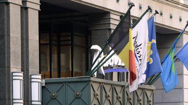 L'entrée d'un hôtel Radisson à Bruxelles