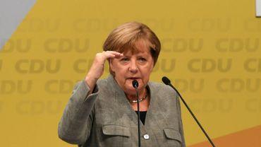 La chancelière allemande Angela Merkel le 12 août 2017 à Dortmund en Allemagne