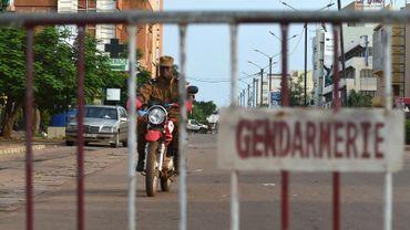 Un barrage de gendarmerie à Ouagadougou le 14 août 2017