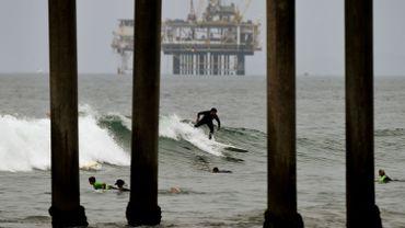 Image d'illustration d'une plateforme pétrolière Exxonmobil au large de la Californie