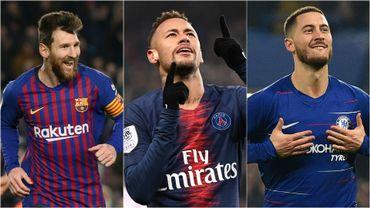 Messi, Neymar et Hazard