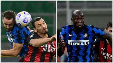 Doublé d'Ibrahimovic, but de Lukaku : l'AC Milan bat l'Inter et gagne le derby