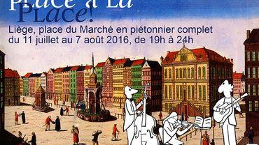 Liège: la place du Marché piétonne en soirée jusqu'au 7 août