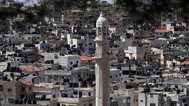 Vue générale du camp de réfugiés de Jalazoun en Cisjordanie occupée, le 24 mars 2015