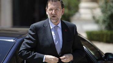 Le chef du gouvernement espagnol Mariano Rajoy avant une réunion à Rome, le 22 juin 2012