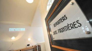 Le siège de l'association Reporters sans frontières, le 5 avril 2008
