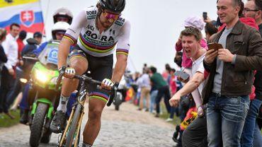 Peter Sagane lors du dernier Paris-Roubaix en avril