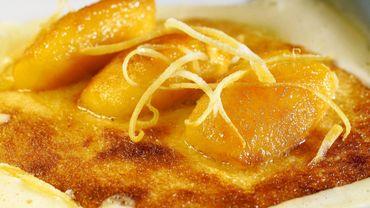 Gratin de golden, crème d'amandes au beurre de citron