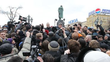 Une manifestation à Moscou