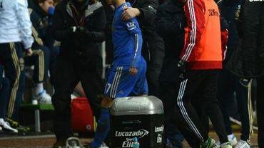 Eden Hazard exclu lors du match Swansea City-Chelsea