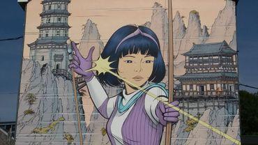 "Une grande fresque ""Yoko Tsuno"" inaugurée à Verviers"