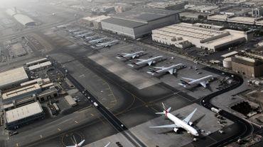 L'aéroport international de Dubaï à l'arrêt.