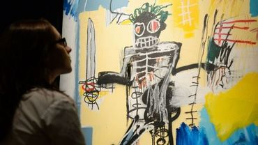 """""""Warrior"""", un tableau de Basquiat estimé entre 600 000 et 800 000 euros lors d'une vente chez Sotheby's en juin 2012"""