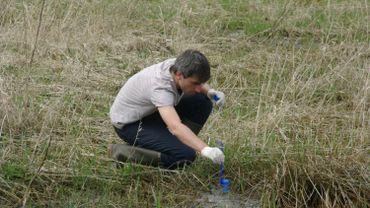 Les chercheurs prélèvent des échantillons d'eau dans la nature et, grpace à la génétique, sont capables de dresser la liste des tous les organismes vivants dans l'environnement.