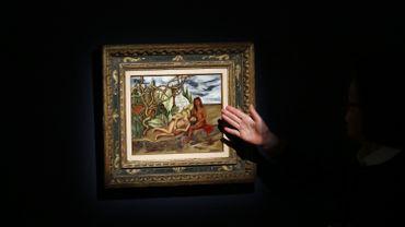 """""""Dos desnudos en el bosque (La tierra misma)"""" de Frida Kahlo"""