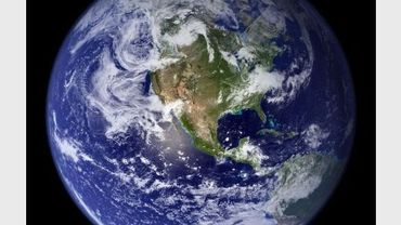 Photo de la NASA montrant le globe terrestre en mars 2010