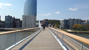 Liège: inauguration de la nouvelle passerelle ce lundi