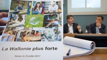 """""""La Wallonie plus forte"""", l'ambition de la nouvelle majorité régionale MR-cdH."""