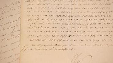 """Le document chiffré et signé """"nap"""" dans lequel Bonaparte annonce sa volonté de faire exploser le Kremlin."""