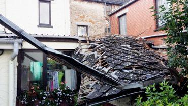 Les toits n'ont pas été épargnés à Gozée.