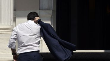 Alexis Tsipras de retour à Athènes, le lundi 13 juillet.