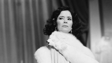 Marie-José Nat, lors d'une répétition au théâtre en 1984