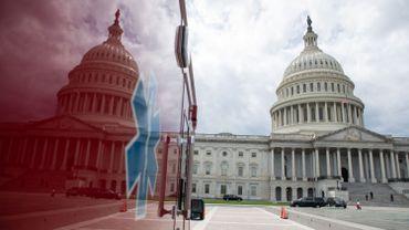 Ambulance devant le Capitole de Washington, ce 21 avril 2020