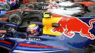 Mark Webber et les McLaren