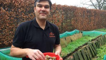 Didier Vilret, producteur d'escargots à Geer.