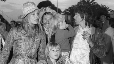 Anita Pallenberg et Keith Richards en 1971