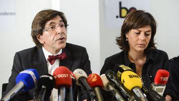 Le Premier ministre Elio Di Rupo et la Vice-Première ministre et Ministre de l'Intérieur, Joëlle Milquet, font le point sur la catastrophe de Wetteren