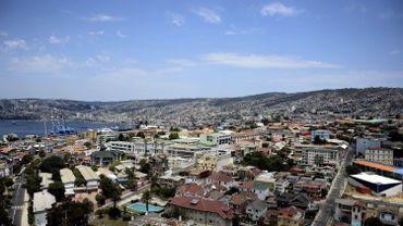Vue de Valparaiso au Chili
