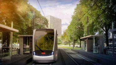 L'une des esquisses du futur tram liégeois.