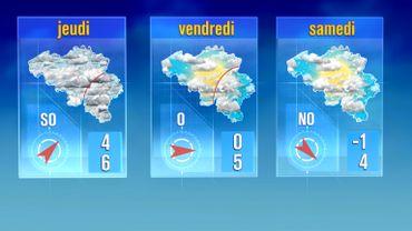 Baisse des températures et conditions hivernales à partir de demain jeudi