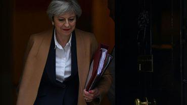 La Première ministre britannique Theresa May, au 10 Downing Street, le 29 mars 2017 à Londres
