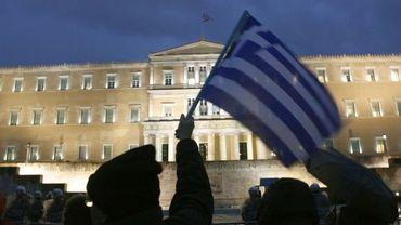 Protestations devant le Parlement à Athènes