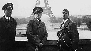 Adolf Hitler à Paris avec le sculpteur Arno Breker et l'architecte Albert Speer