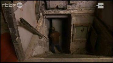 Entrée du bunker sous la station de métro Porte de Namur